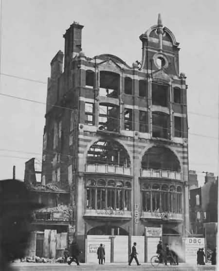 Dublin Bread Company building after fire & shelling during 1916 uprising