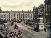 College Green & 19th century Dublin, Ireland prints